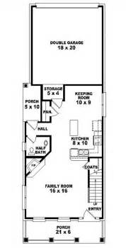 house plan for narrow lot 653437 2 story traditional narrow lot house plan