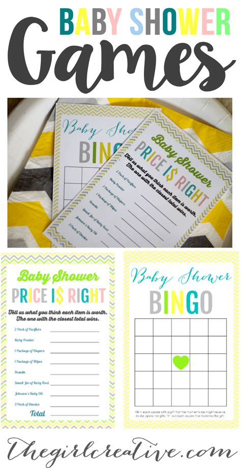 Price Is Right Baby Shower Free Printable by Printable Baby Shower The Creative
