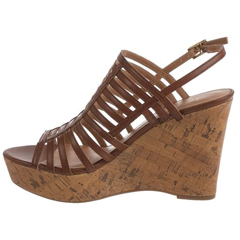 wedge strappy sandals franco sarto sombre strappy wedge sandals for