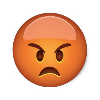 imagenes emoji enojado pegatinas enojado del emoji adhesivos zazzle es