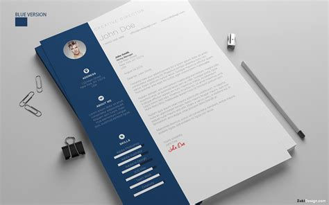 resume design template cover letter psd ai