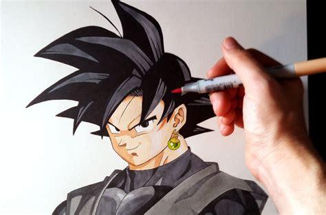 imagenes de goku black c 243 mo dibujar a goku black de dragon ball super how to