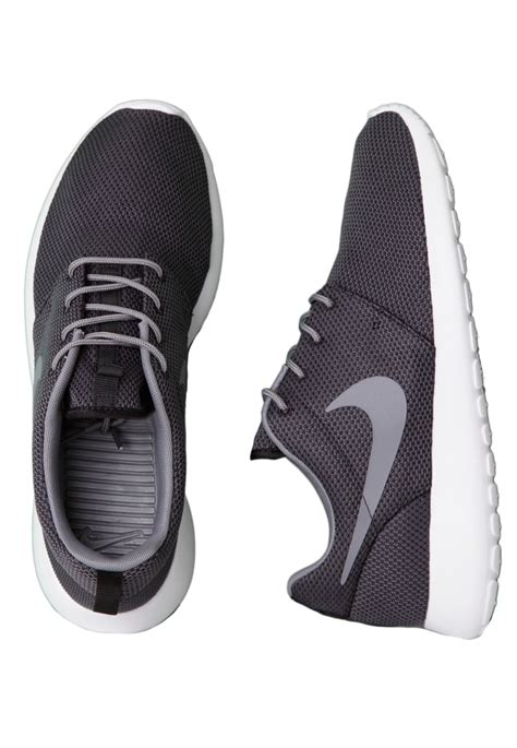 nike roshe run black cool grey white shoes impericon