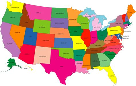 united states colors map of the us colored states cdoovision