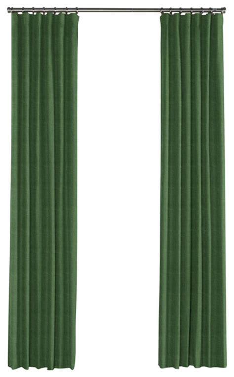 dark green curtains drapes dark green linen curtain single panel ring top