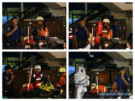 Masker Pemadam Kebakaran field trip ke dinas pemadam kebakaran my fourleafclover