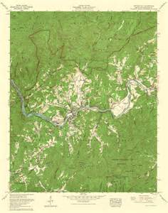 topographic map of carolina historical topographical maps bryson city