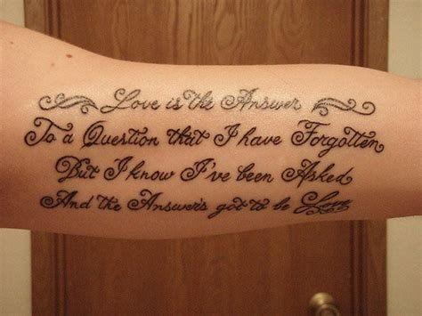 bicep quote tattoos inner arm quotes quotesgram
