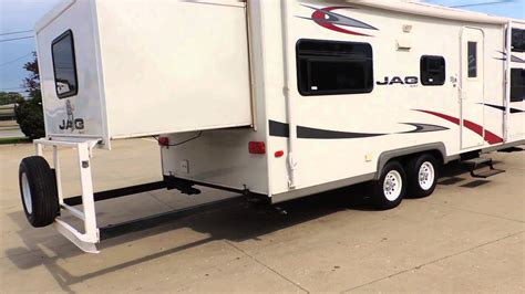 26 Ft Travel Trailer Floor Plans nice clean 25 2007 kz jag 25 rear slide front quad bunks
