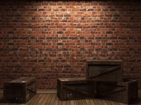 illuminated brick wall  boxes    graphics