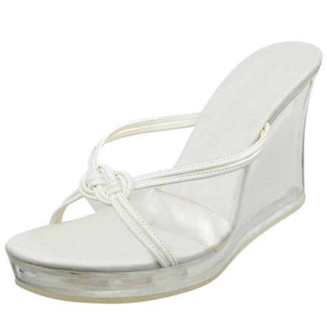 womens platform sandals clear wedge from k stores usa shoes