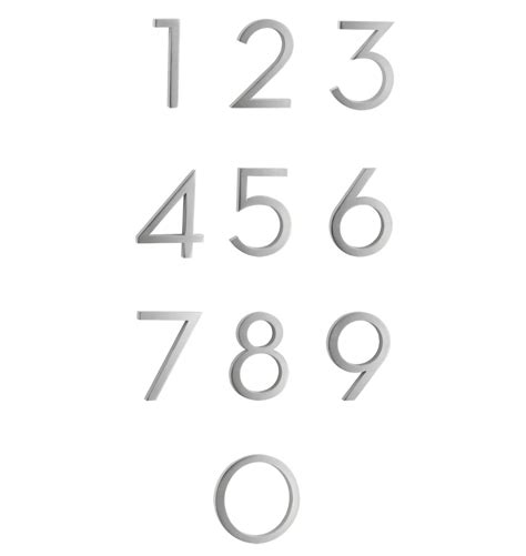 modern house numbers 4 quot modern house numbers rejuvenation