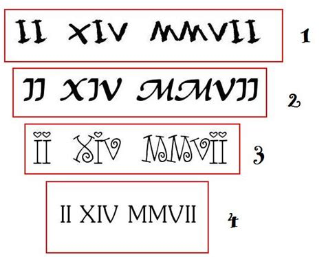 roman numeral tattoo fonts numeral font tattoos