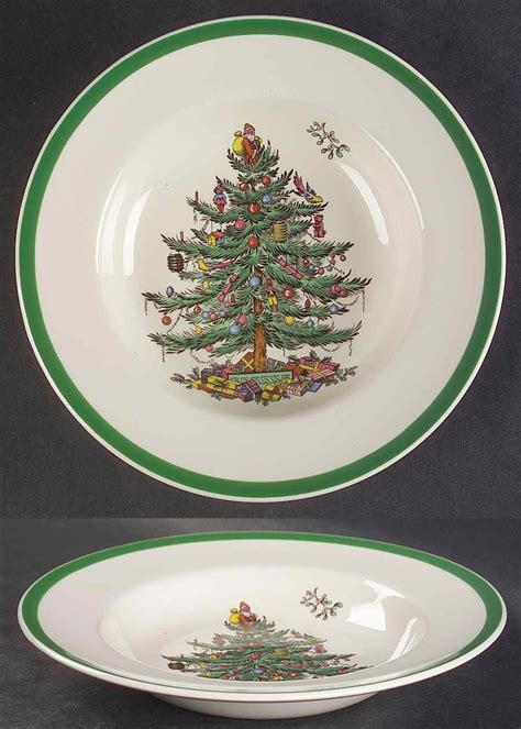 spode christmas tree green trim pattern spode christmas tree green trim rimmed soup bowl 677278