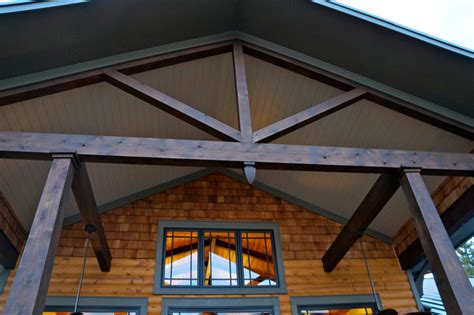 Cedar Beam Ceiling by Details Of The Cedar Beams And Tongue And Groove Ceiling
