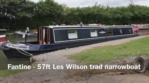 rugby boat sales gallery sold fantine 57ft les wilson trad narrowboat youtube