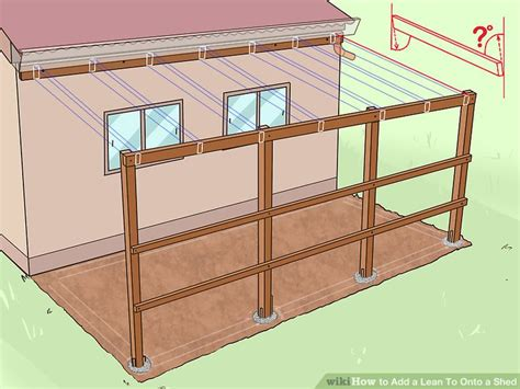 Garage Plans With Carport 6 ways to add a lean to onto a shed wikihow