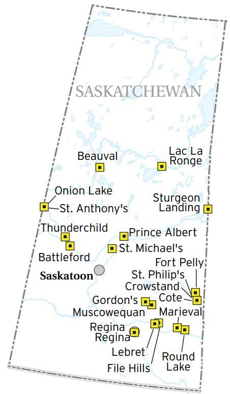 american boarding schools map a map of the saskatchewan residential schools