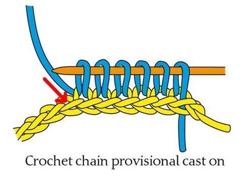 crochet chain cast on for knitting crochet chain provisional cast on 別糸の作り目