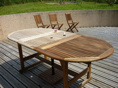 Table De Jardin En Bois by Mobilier Jardin En Bois Table Jardin Blanche Inds