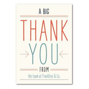 and impressive business thank you card design