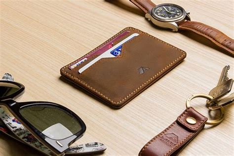 Handcrafted Leather Wallet - handmade leather front pocket wallet gadgetsin