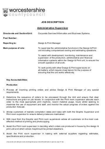 cashier supervisor description bordine s