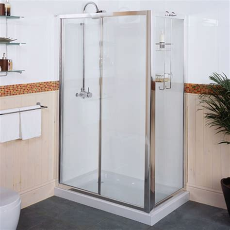 Roman Collage Sliding Shower Door 1000mm Clear Glass Ct1013 Clear Glass Shower Door