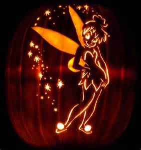 tinkerbell pumpkin carving templates glowing tinkerbell pumpkin tinkerbell pumpkins