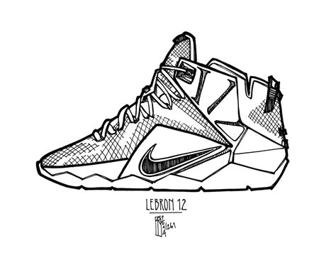 Lebron Coloring Pages free nike lebron 11 coloring pages