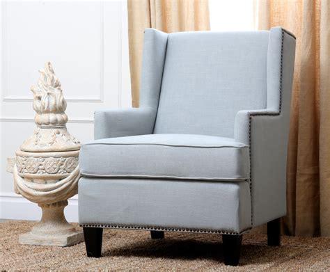 abbyson living lorena fabric nailhead trim light blue armchair contemporary armchairs