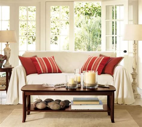 pottery barn loose fit slipcover dropcloth loose fit slipcover twill pottery barn
