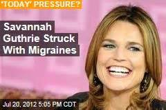 todays savannah guthrie being treated for migraines and seeing good morning america news stories about good morning