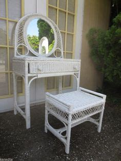 small wicker vanity chair henry link wicker desk this is my make up table