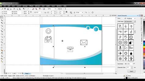 desain kartu nama menggunakan corel draw tutorial membuat desain kartunama corel draw x4