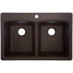 Lowes Sinks Kitchen Shop Franke Usa 22 In X 33 In Mocha Basin Granite Drop In Or Undermount Kitchen Sink At