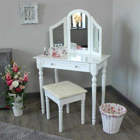 white bedroom dressing table white bedroom dressing table triple mirror stool set