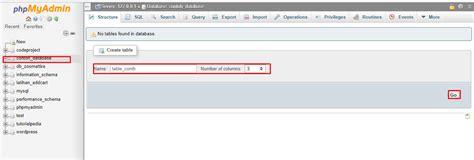 membuat database dengan mysql query browser cara membuat database mysql dengan phpmyadmin tutorialpedia