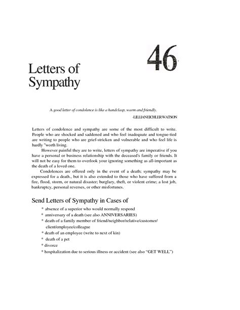 Condolence Letter Business Definition effective letter sle for saying sympathy and condolence