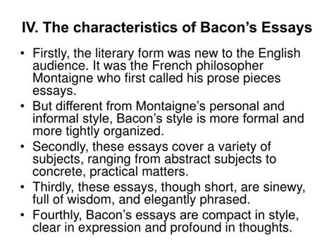 Prose Style Of Francis Bacons Essays by Ppt Lecture Five Francis Bacon Powerpoint Presentation Id 1769620