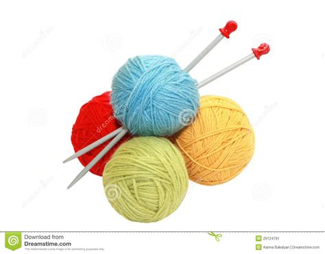how to take yarn knitting needles color yarn balls and knitting needles stock image image