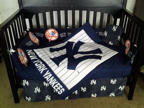 New Custom New York Yankees Full Crib Bedding Set Ny Baseball Baseball Nursery Bedding Sets