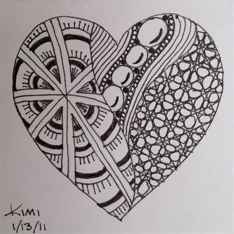 zentangle love pattern 1000 images about art zentangle heart on pinterest