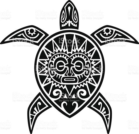 polynesian tattoo logo maori turtle tattoo stock vector art more images of