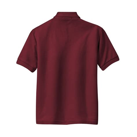 port authority y500 youth silk touch polo burgundy fullsource
