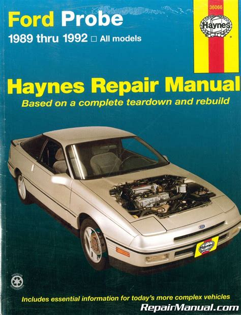 where to buy car manuals 1989 ford probe interior lighting haynes ford probe 1989 1992 auto repair manual