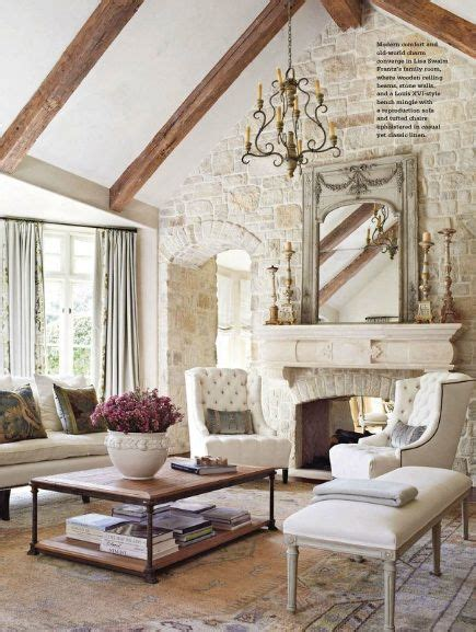 french livingroom living room with beams from country french magazine my