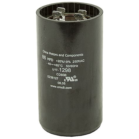 86 103 mfd 250 vac motor start capacitor motor start capacitors capacitors electrical