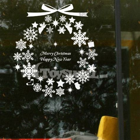 wholesale christmas shop window decals christmas window