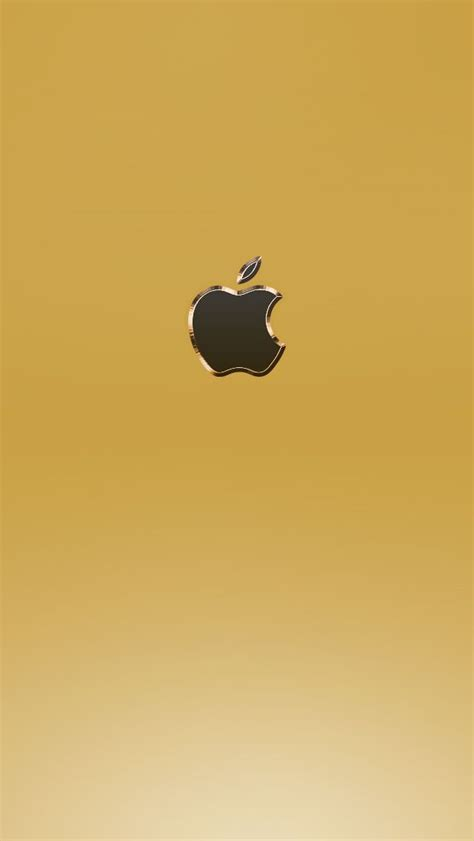 gold apple iphone wallpapers   apple logo